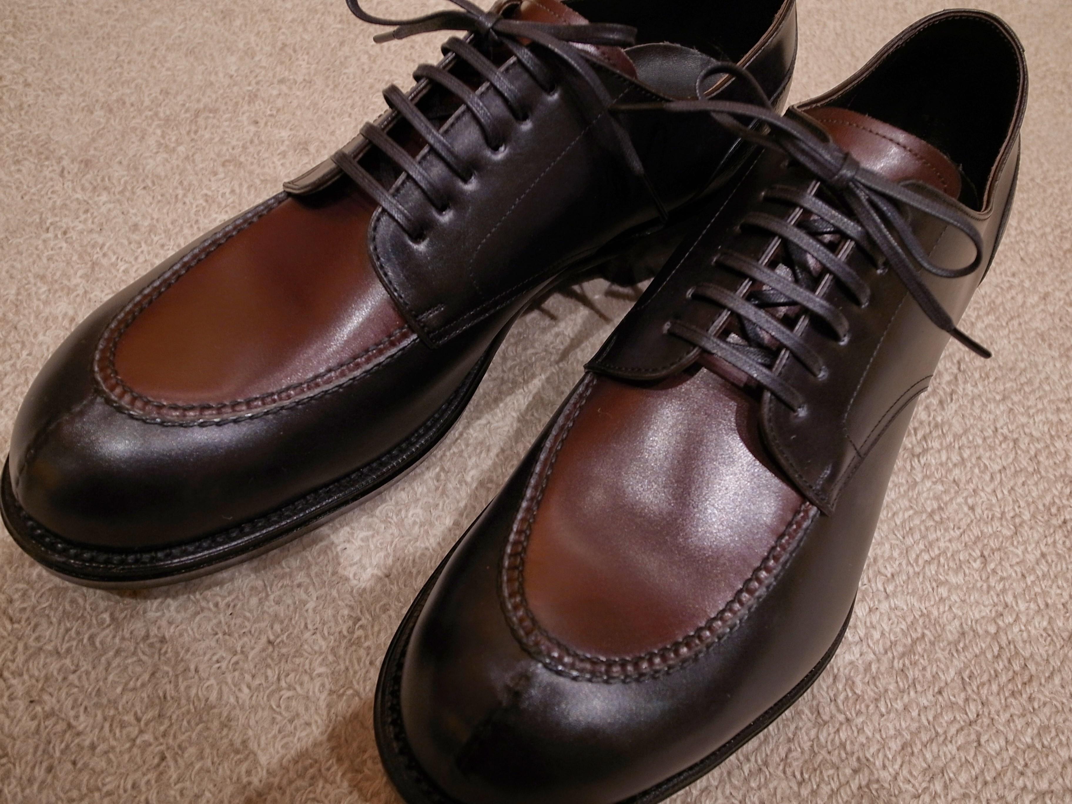 [0754-201504] 宮城興業 和創良靴3足目はUチップ。一足ごとに広がっていく可能性を感じます。