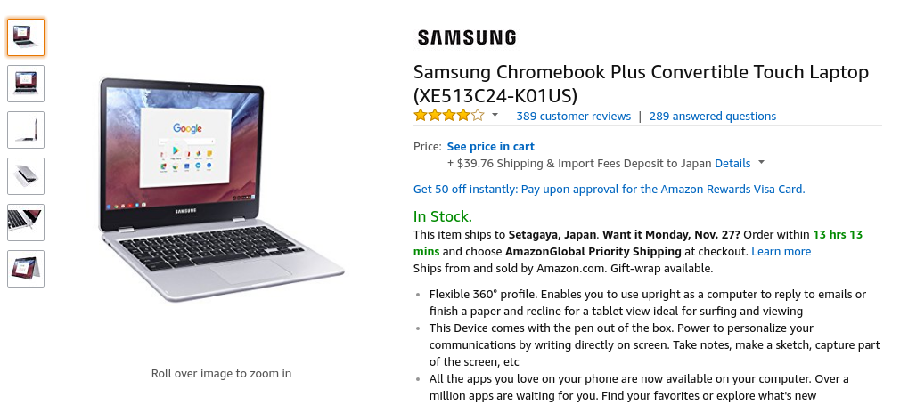 Amazon.com: Samsung Chromebook Plus Convertible Touch Laptop (XE513C24-K01US): Computers & Accessories