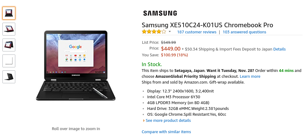 Amazon.com: Samsung XE510C24-K01US Chromebook Pro: Computers & Accessories