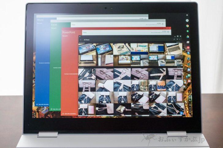 Officeアプリ on Pixelbook