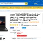 Lenovo ThinkPad X131E Chromebook - Intel Celeron 1007U 1.50GHz, 4GB RAM, 16GB eMMC, 11.6 1366x768 (HD), Integrated Graphics, Chrome OS, 1 Year Warranty, Refurbished - 14-LN-X131e-00 at TigerDirect.com