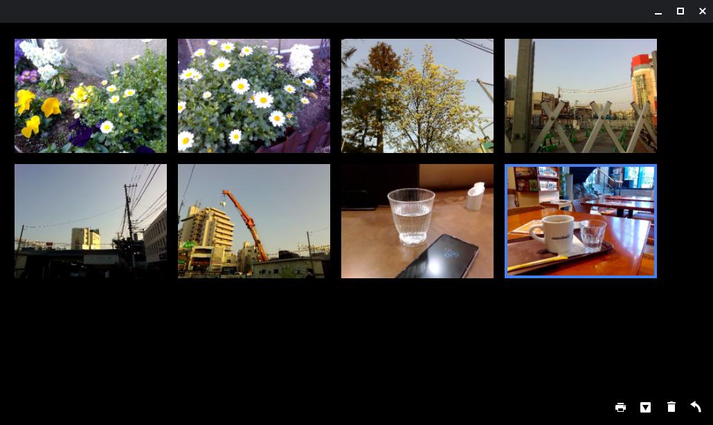 カメラアプリのギャラリー