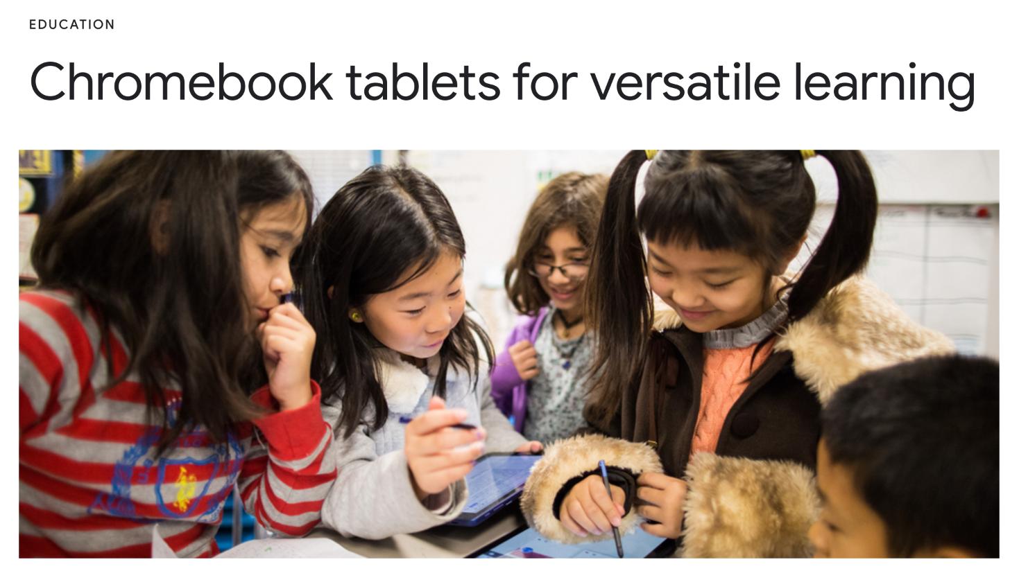 Chromebook tablets for versatile learning