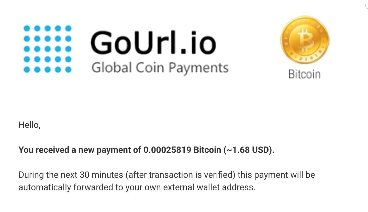 GoUrl.io BitCoin Donation