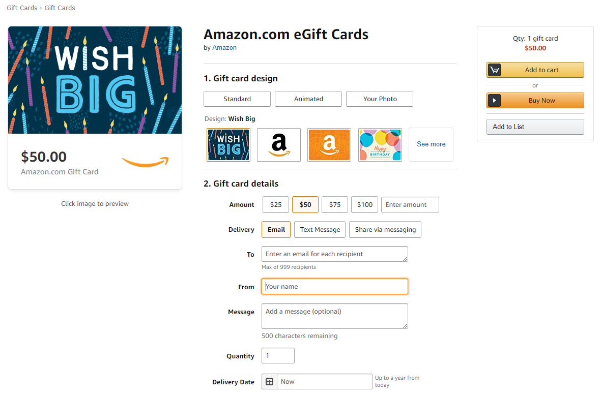 Amazon.com: Amazon eGift Card