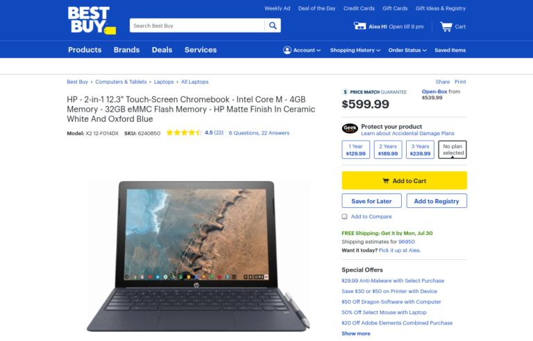 [かぶ] BestBuyでHP Chromebook x2を注文。到着は来月上旬以降の予定です。