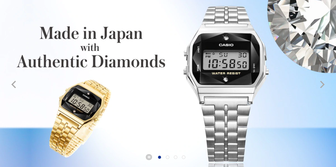 Made in Japan with Authentic Diamonds | CASIO