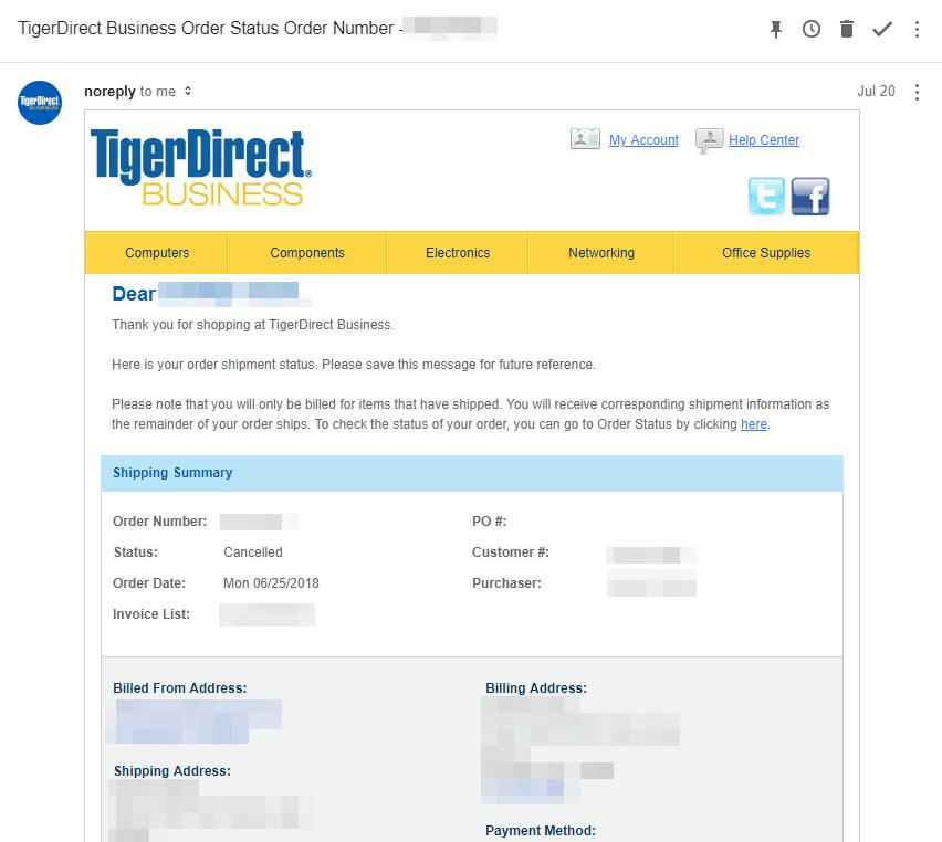 [かぶ] Acer Chromebook Tab 10、TigerDirectとの行き違いから突然のキャンセル→仏Amazonが直輸入可能、注文までの経緯。