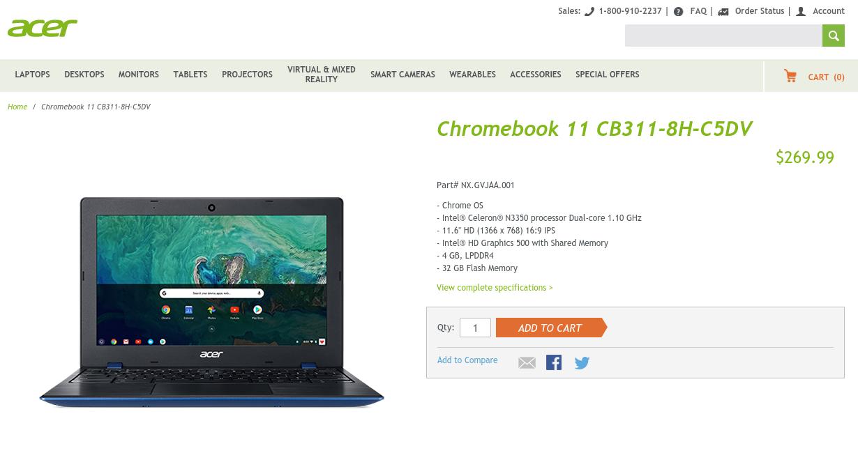 [かぶ] ASUS Chromebook 12 C223NAが人気の中、先行したAcer CB311-8H-C5DVは何故あまり話題にならなかったのか。