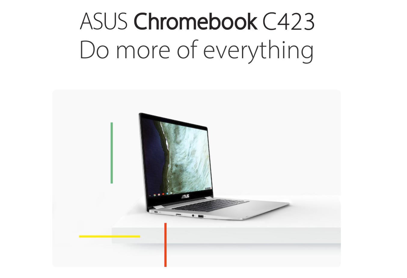 [かぶ] Do more of everything. ASUS C223NAに続いてシンプルな14インチ、Chromebook C423NAを公開。