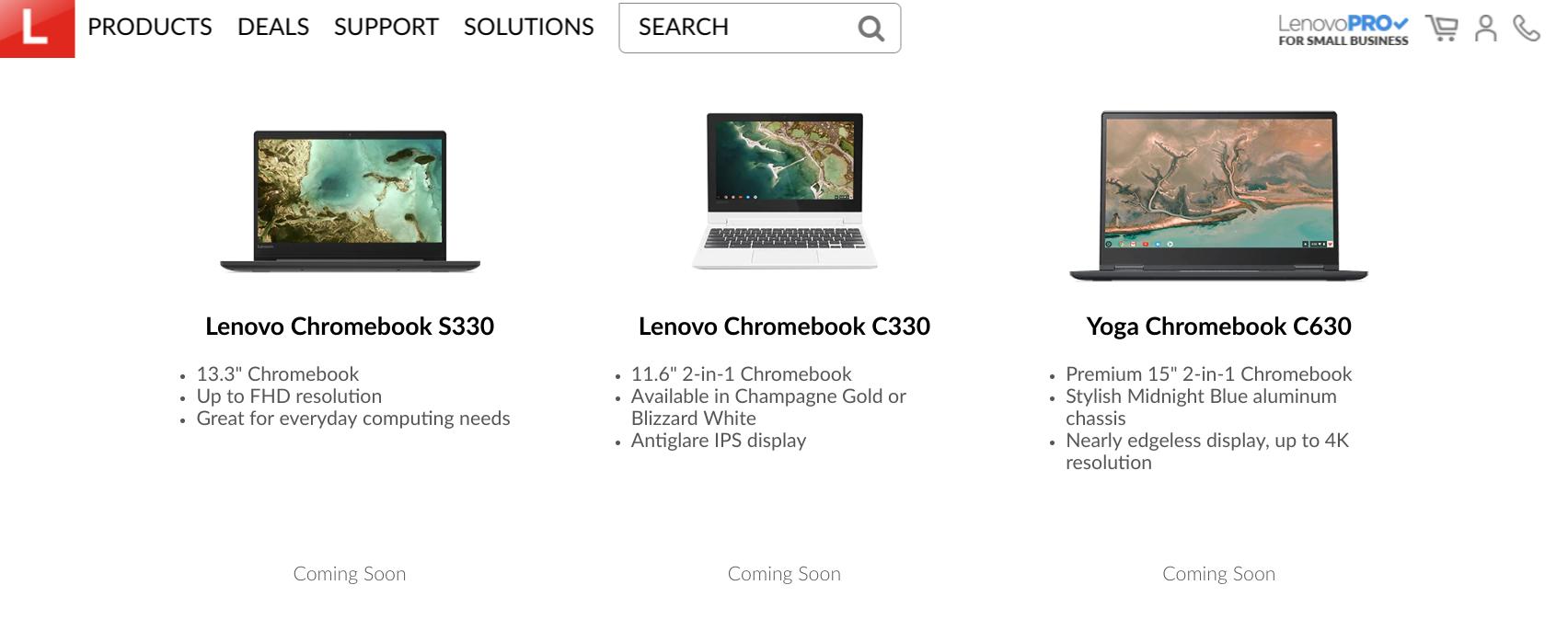 [かぶ] Lenovoの今年の新モデルより11.6インチのC330と13.3インチのS330が米Amazonで取扱開始。
