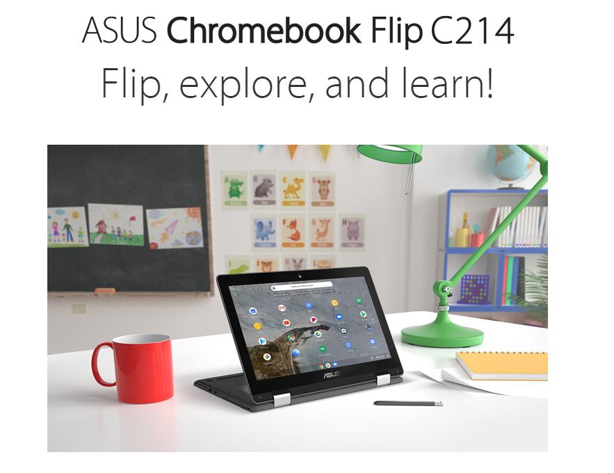 [かぶ] ASUS Chromebook Flip C214MAが米Amazonに登場。日本での発売にも期待。