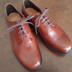 """<span class=""""title"""">[革靴] 廃業から一年四ヶ月。丸善マナスルシューズMG605(茶革プレーントゥ)がやってきた。</span>"""