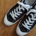 [日用品] #スニ活の季節なので、無印良品の「撥水オーガニックコットン疲れにくいスニーカー」を購入しました。スニーカーも用量・用法を守って楽しく履きましょう。
