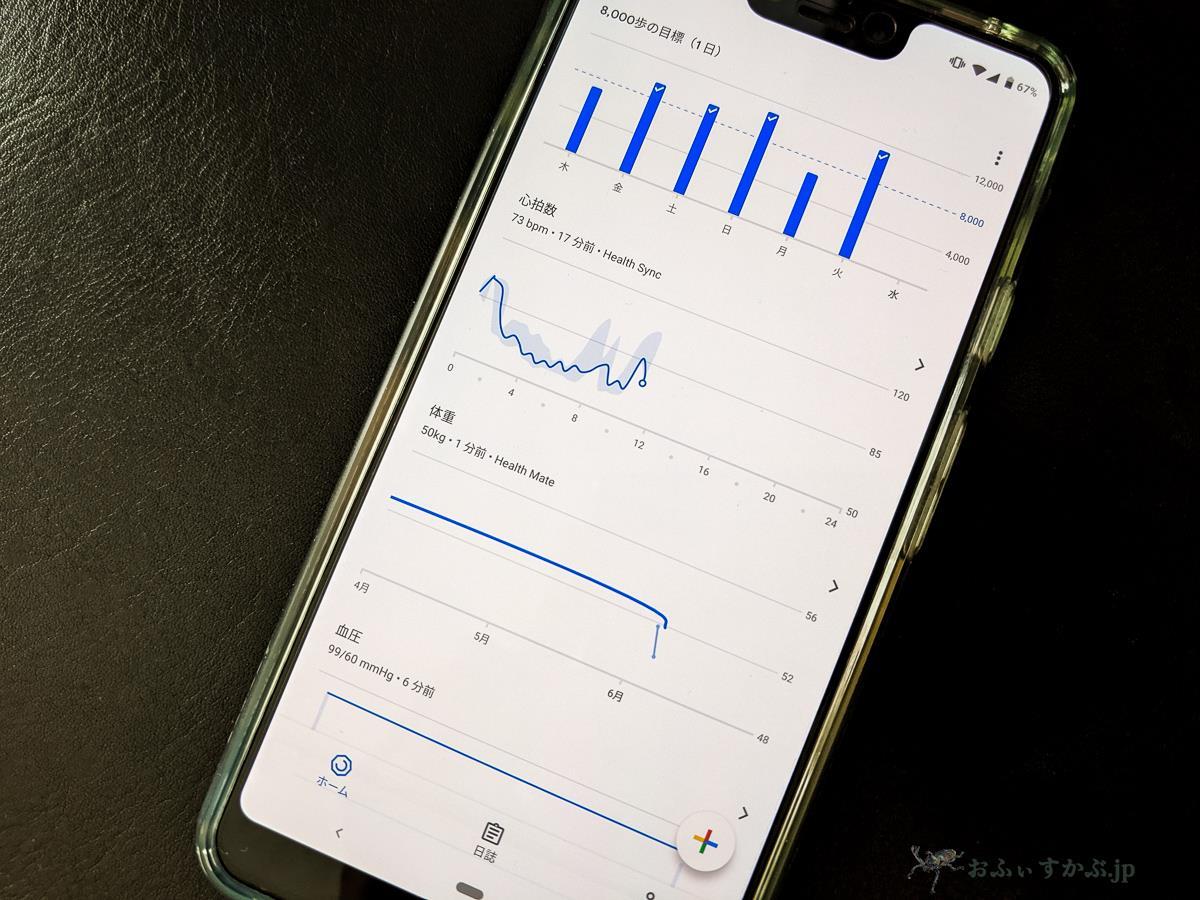 [健康] 歩数、心拍数、血圧から体重まで自分のヘルスケアデータをGoogle Fitでまとめて管理する。