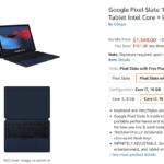 [かぶ] Pixel Slateが純正キーボード付でそれぞれ$549(m3)、$749(i5)、$1,349(i7)で米Amazonにて販売中(2019年9月23日)。