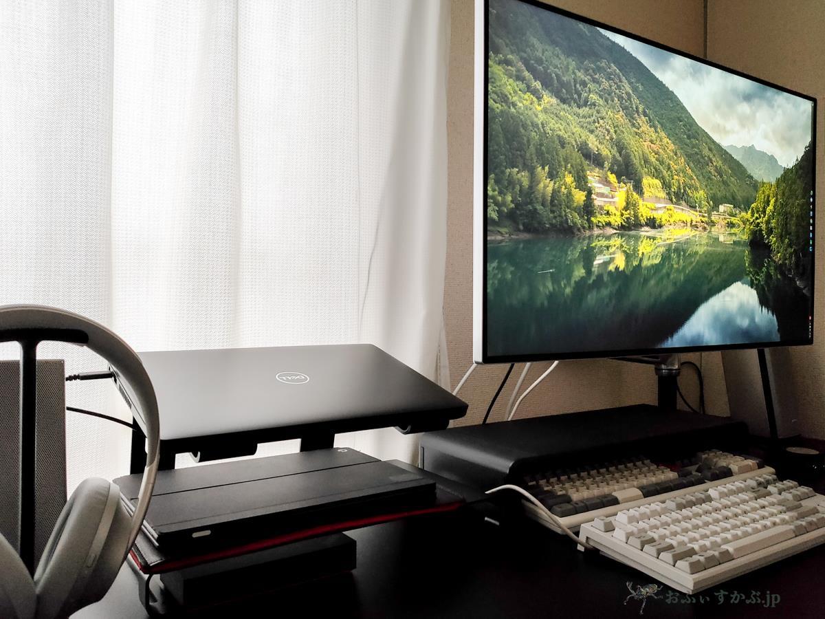 [かぶ] Pixel SlateとLatitude 5400 Chromebookを4Kモニターに繋いで使う、ここ最近の私の自宅の机まわりの環境を紹介します。