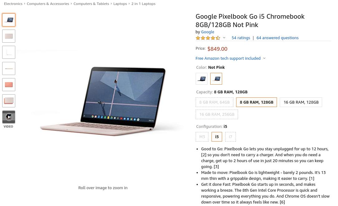 """[かぶ] Pixelbook Go """"Not Pink""""が米Amazonで20日に再入荷で予約受付中。引き続き日本直送は不可。"""