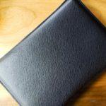 [かぶ] 国立商店製「職人が作るレザースリーブ」ワープロラックスをDell Latitude 5400 Chromebook Enterprise用にサイズ調整。